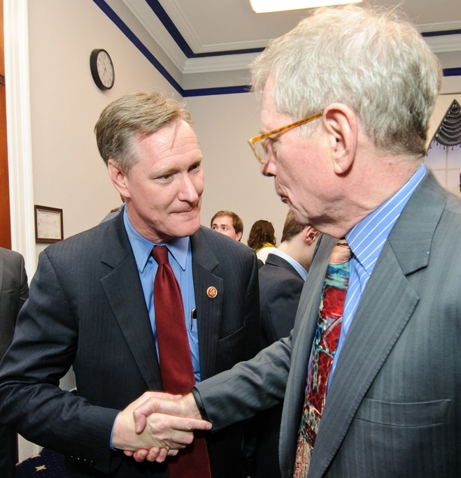 Rep. Steve Stivers, one of the co-chairs for the Congressional Caucus for Middle Market Growth, with Thomas A. Stewart, Executive Director, National Center for the Middle Market